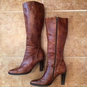 J. Crew Italian Made Leather Knee High Boots -S2